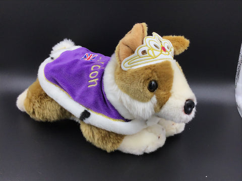 Royal Crown & Cape Corgi Stuffie