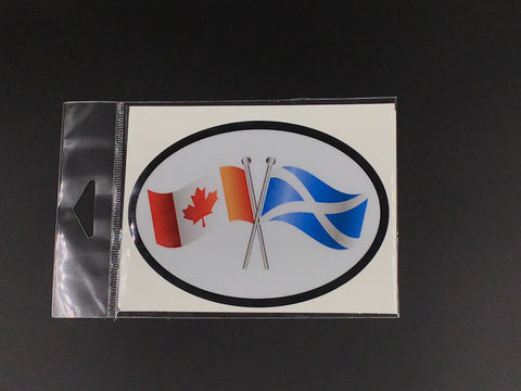 Canada - Scotland Flag Oval Car Decal