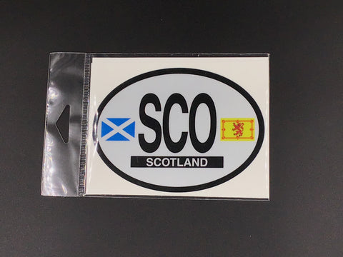 Scotland Oval Car Decal
