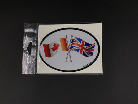 Canada - Union Jack Flag Oval Car Decal