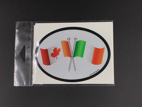 Canada - Ireland Flag Oval Car Decal