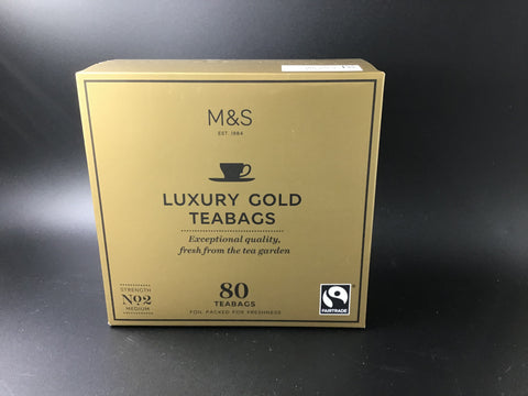 "Marks and Spencer ""Luxury Gold Teabags"" 250g/80bags"
