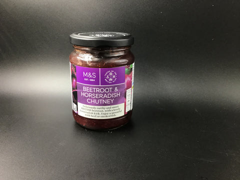 "Marks and Spencer ""Beetroot & Horseradish Chutney"" 295g"