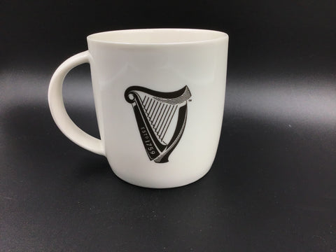 "Guinness Harp Mug ""white and grey"""