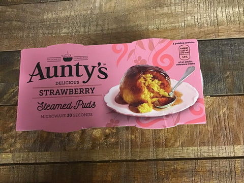 Aunty's Strawberry Steamed Pudding 2pk