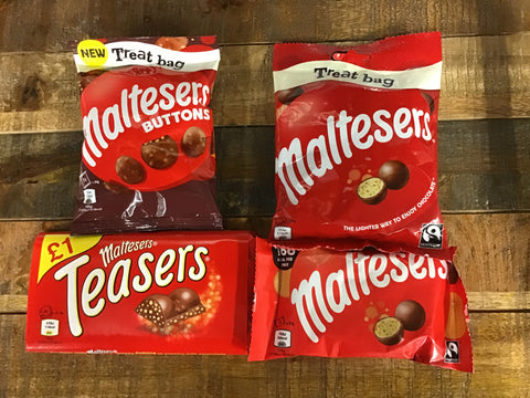 Maltesers Bags - Bars & Buttons- Various Sizes