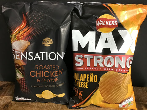 Walkers Sensations  & Max - Chicken & Tyme - Strong Jalepeno