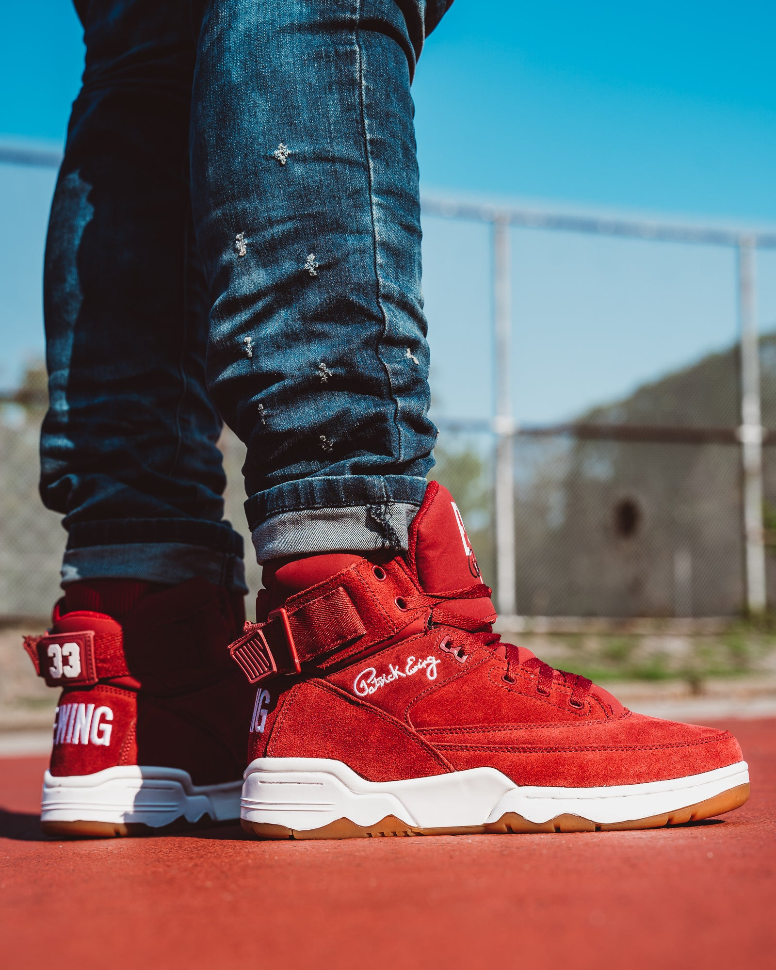 33 HI Biking Red/Gum/White