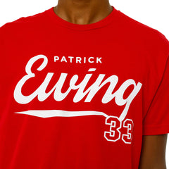Ewing Athletics Script Red T-Shirt