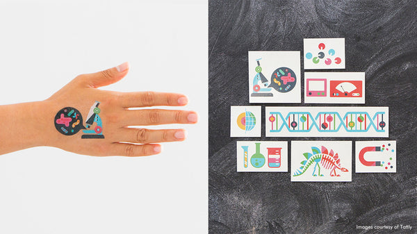 Science Temporary Tattoos from Tattly