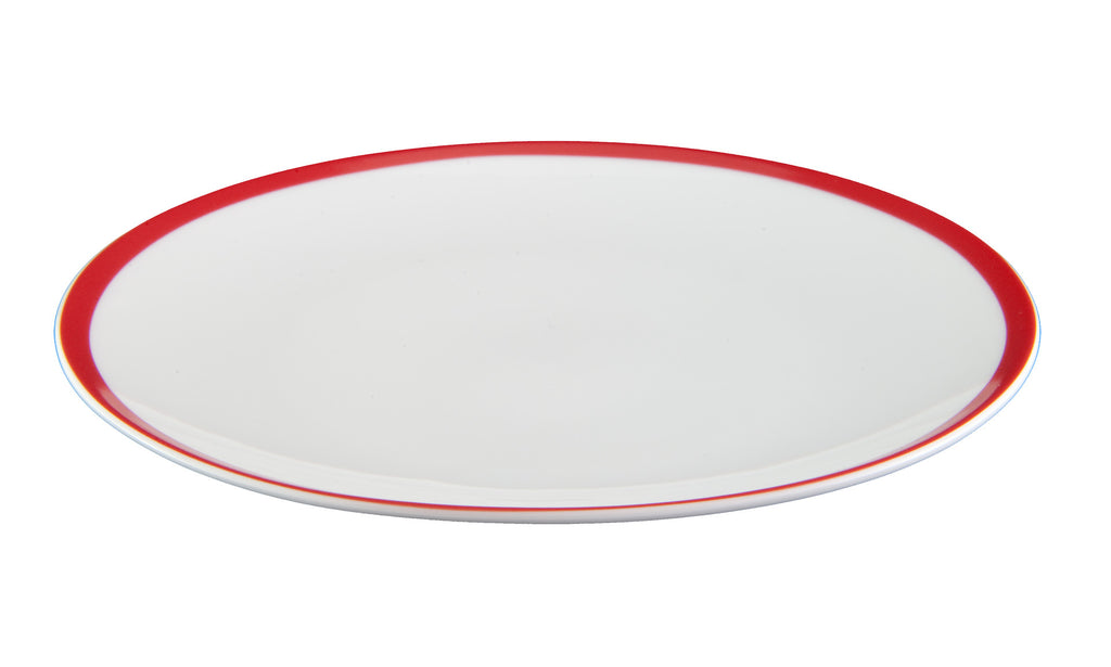 Red Stripe Side Plate