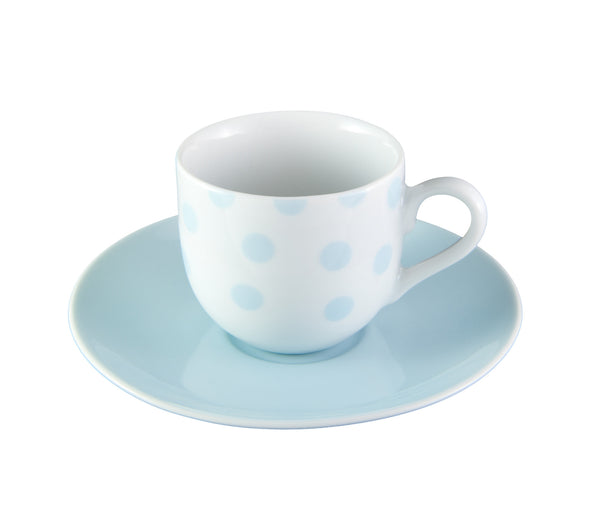 Light Blue Dot Espresso Cup & Saucer