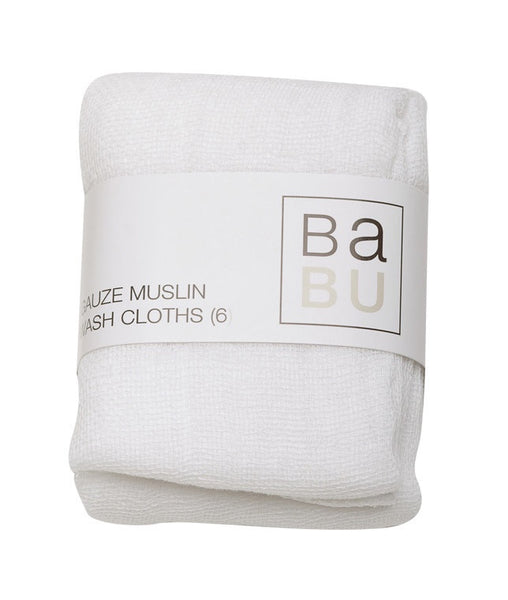 Gauze Muslins Facecloth Set (6 pack)
