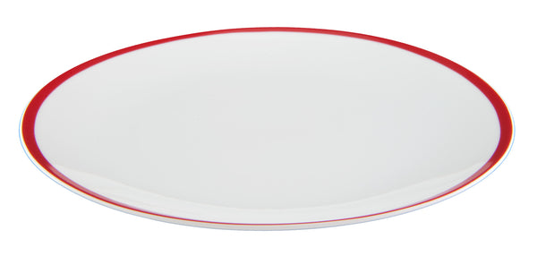 red stripe coupe dinner plate