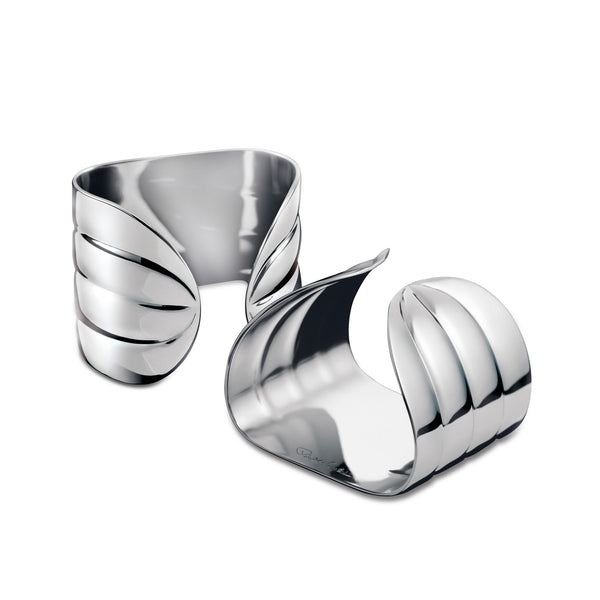 Palm Bright Napkin Ring Set 2pc