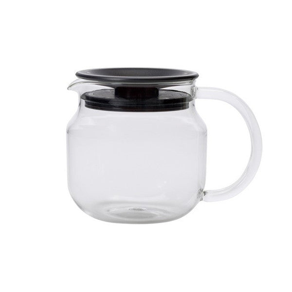 kinto onetouch teapot 450ml brown