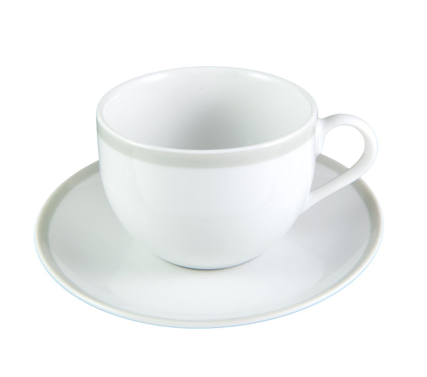 Grey Stripe Cup & Saucer