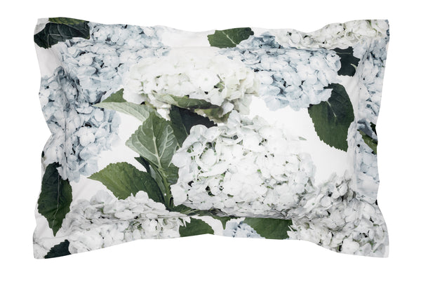 Blue Hydrangea Oxford Pillowcase Set of 2