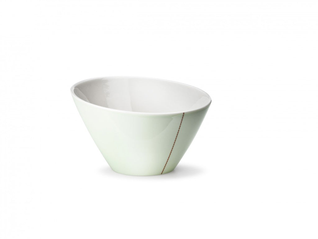 tilt bowl medium green 8 x15cm