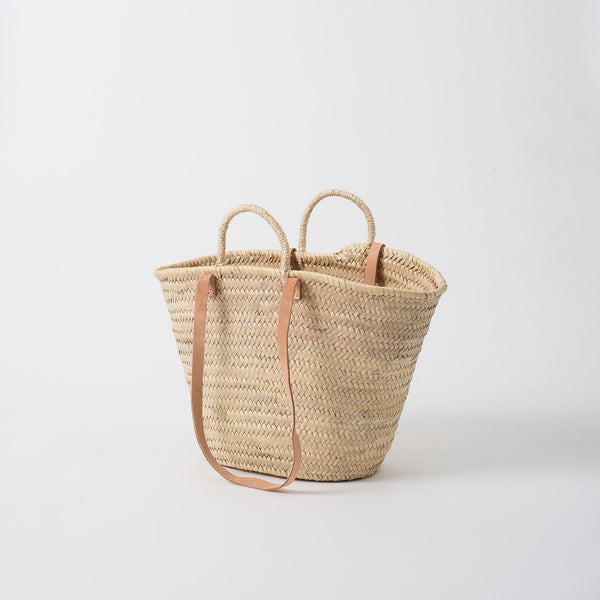 Moroccan Shopper With Leather Handles