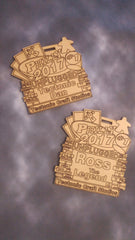 Personalized Name Tags, standard and deluxe
