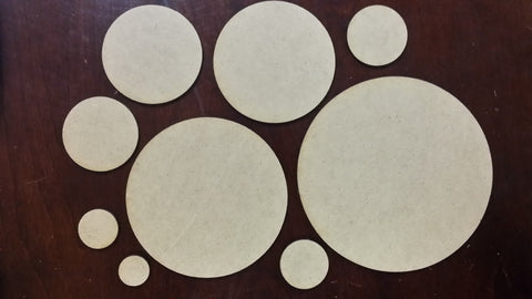 Blank Round & Oval Bases
