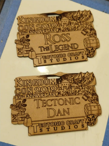 KingdomCon 2019 Commemorative Nametag