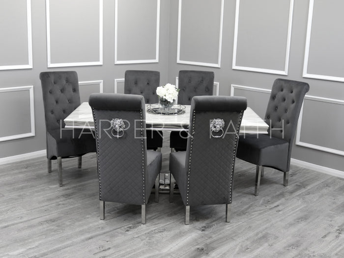 1.8m | Arielle Dining Set | Emma Chairs