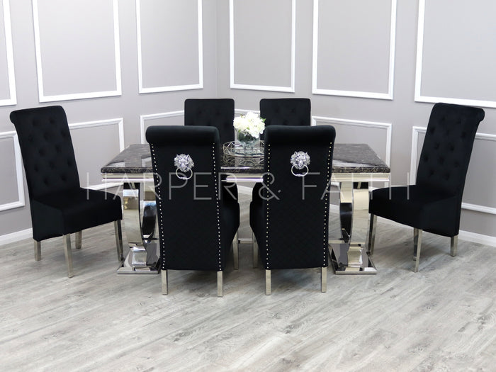 2m | Arianna Dining Set | Emma Chairs