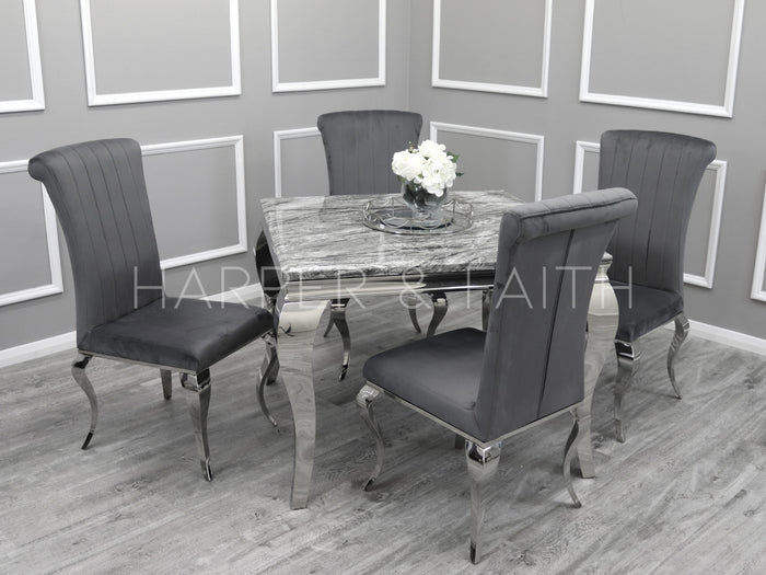 1.1m | Louis Dining Set | Nicole Chairs
