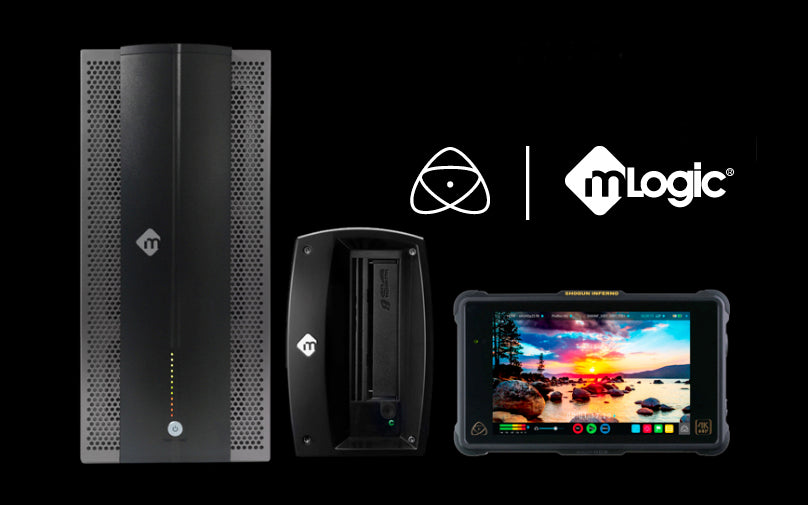 Streamline your Atomos workflow with mLogic storage solutions!