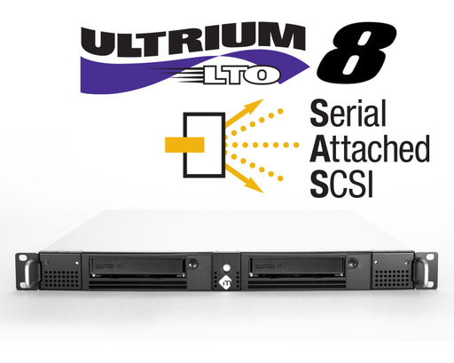 1U Rack-Mountable SAS LTO-8 Solutions