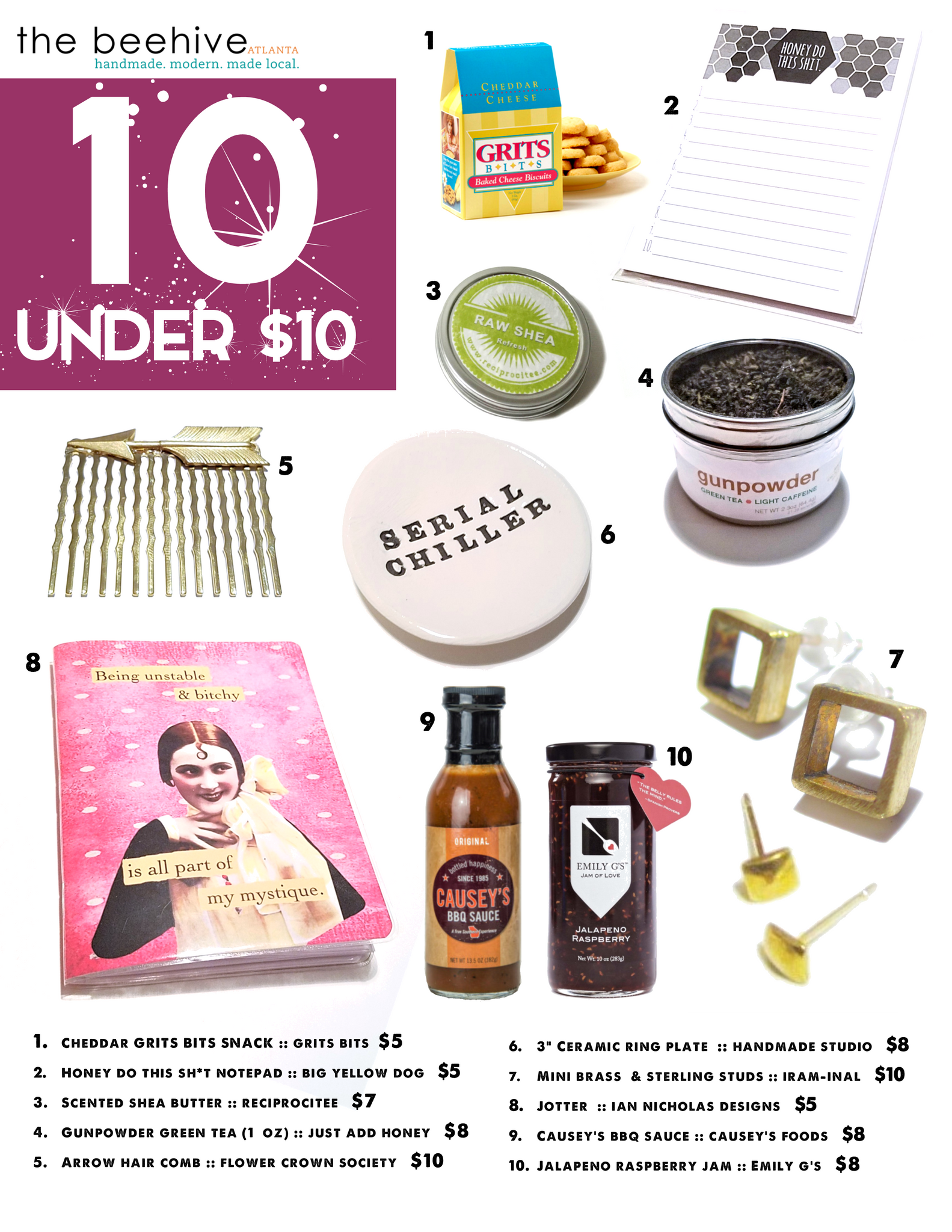Holiday gift guide picks - under $10
