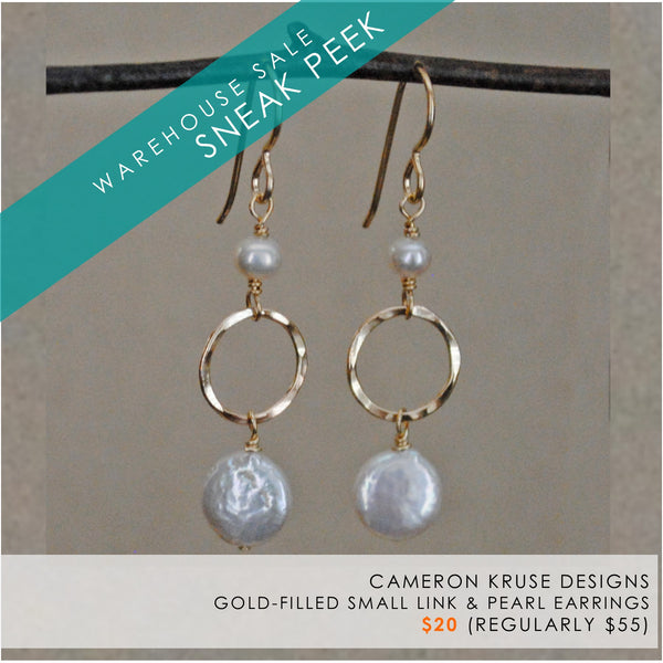 pearl and gold-filled earrings by Cameron Kruse Designs