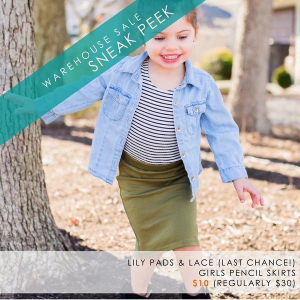 pencil skirt for girls by Lily Pads & Lace