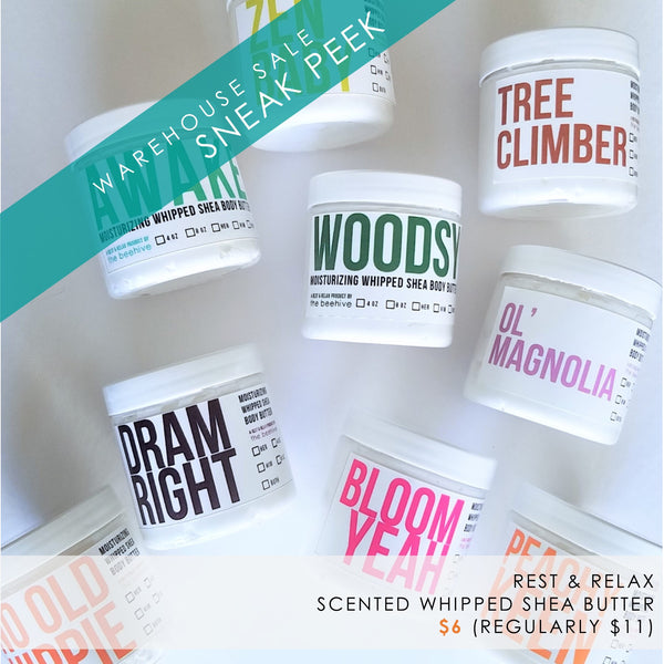 whipped shea body butters by rest and relax