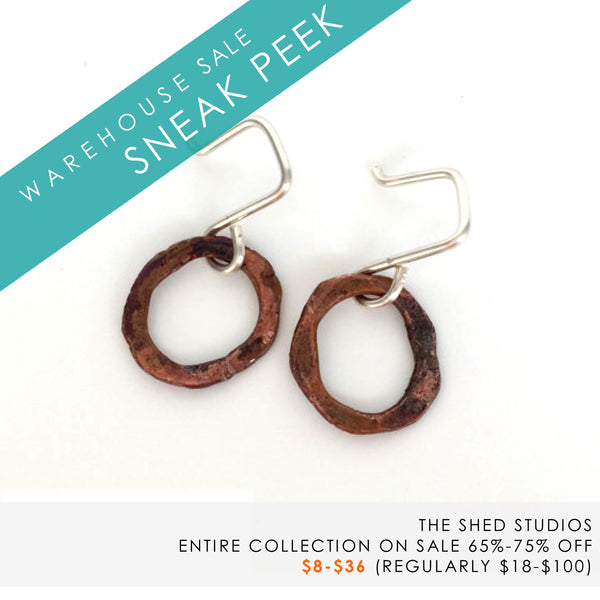 hand forged earrings by The Shed Studios