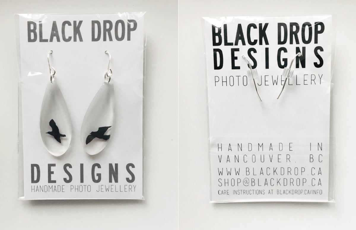 Black Drop Designs - Mirror Drip Forest Earrings
