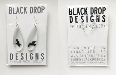 Black Drop Designs - Drip Cheetah Earrings