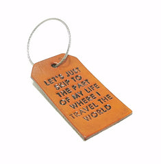 Luggage Tag - Let's Just Skip to the Part Where I Travel the World