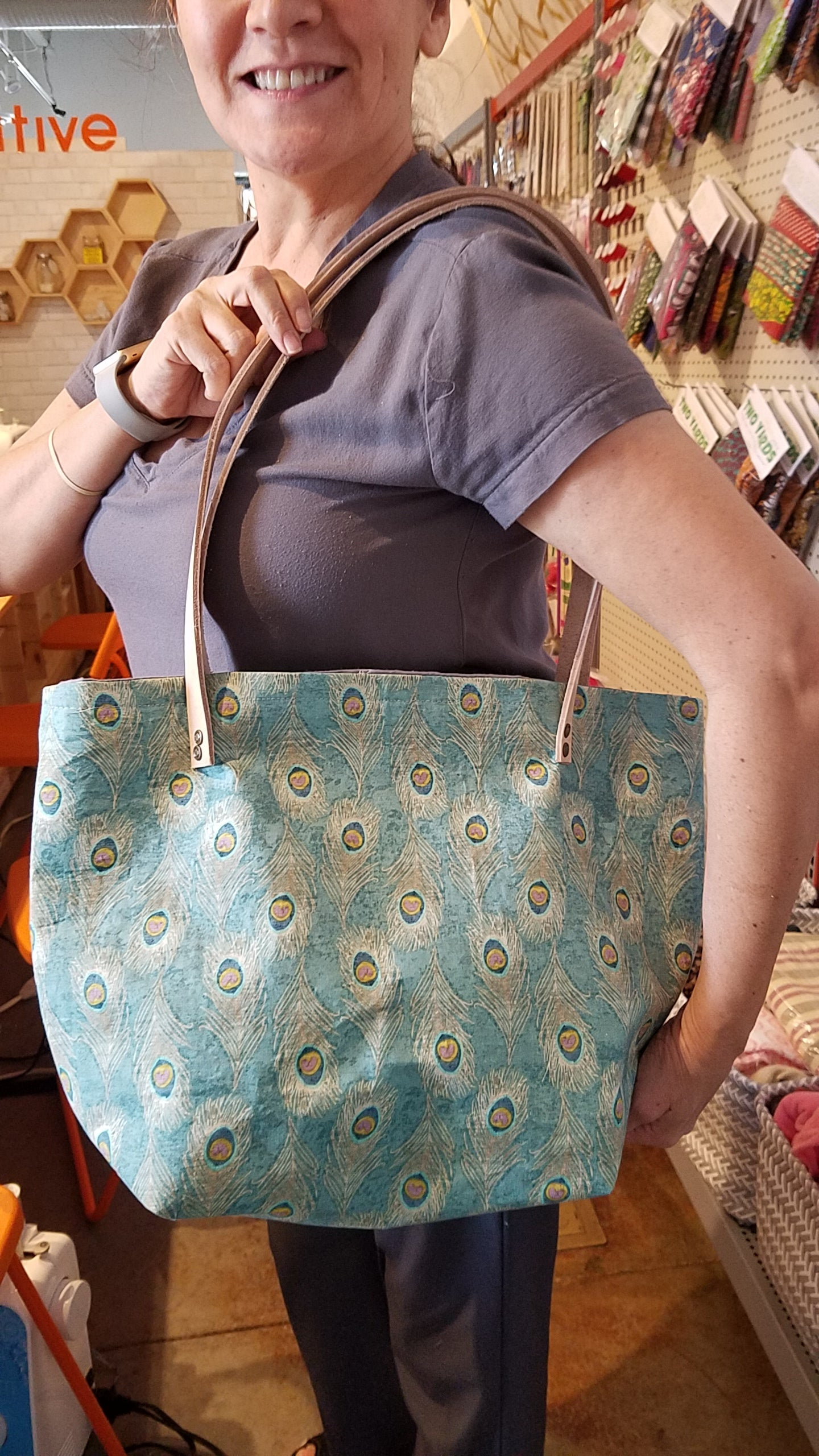 Sewing 102 - Leather Handled Totes