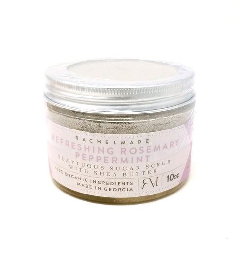 Refreshing Rosemary Peppermint Sumptuous Sugar Scrub with Shea Butter