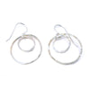 double ring earrings - sterling silver