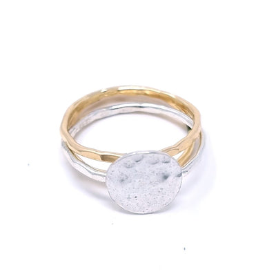 Hammered Disc Ring