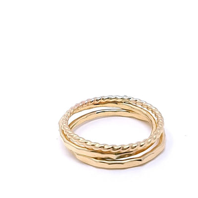 Mini Stacking Rings - Gold Fill