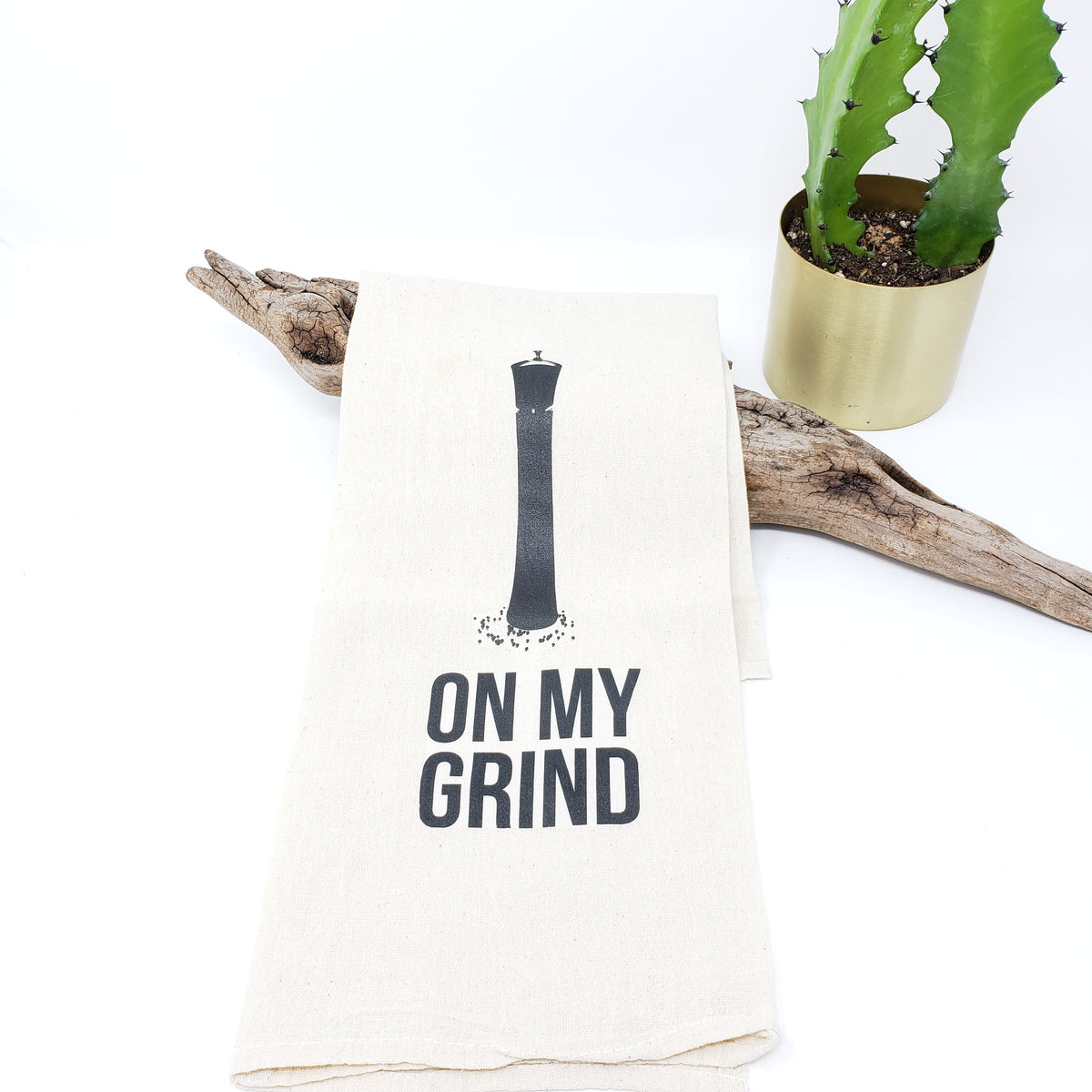On My Grind Tea Towel