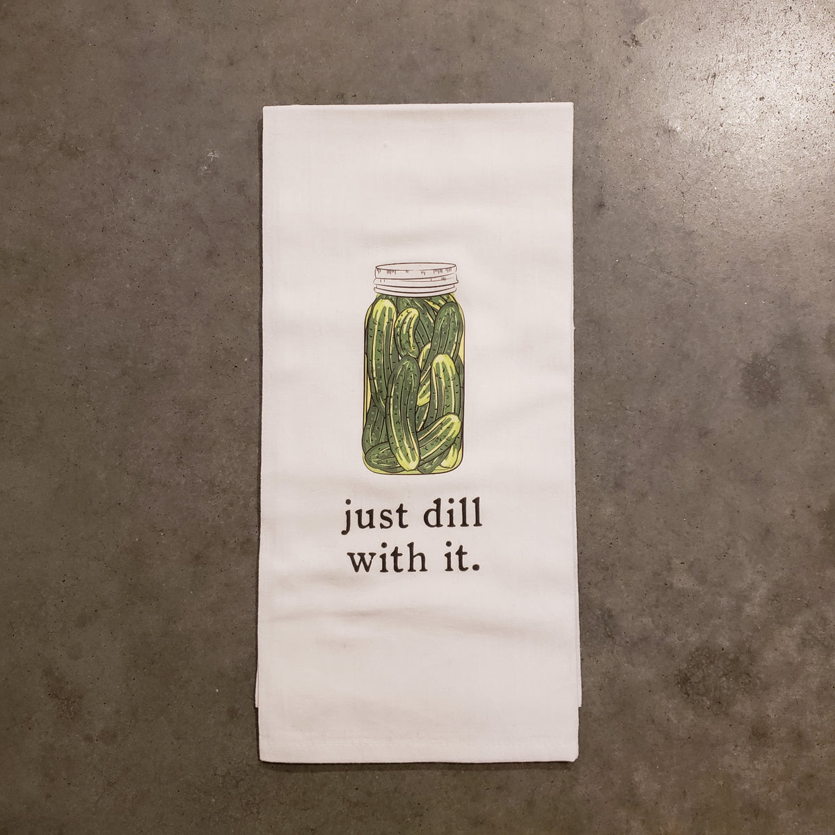 Just Dill With It Tea Towel