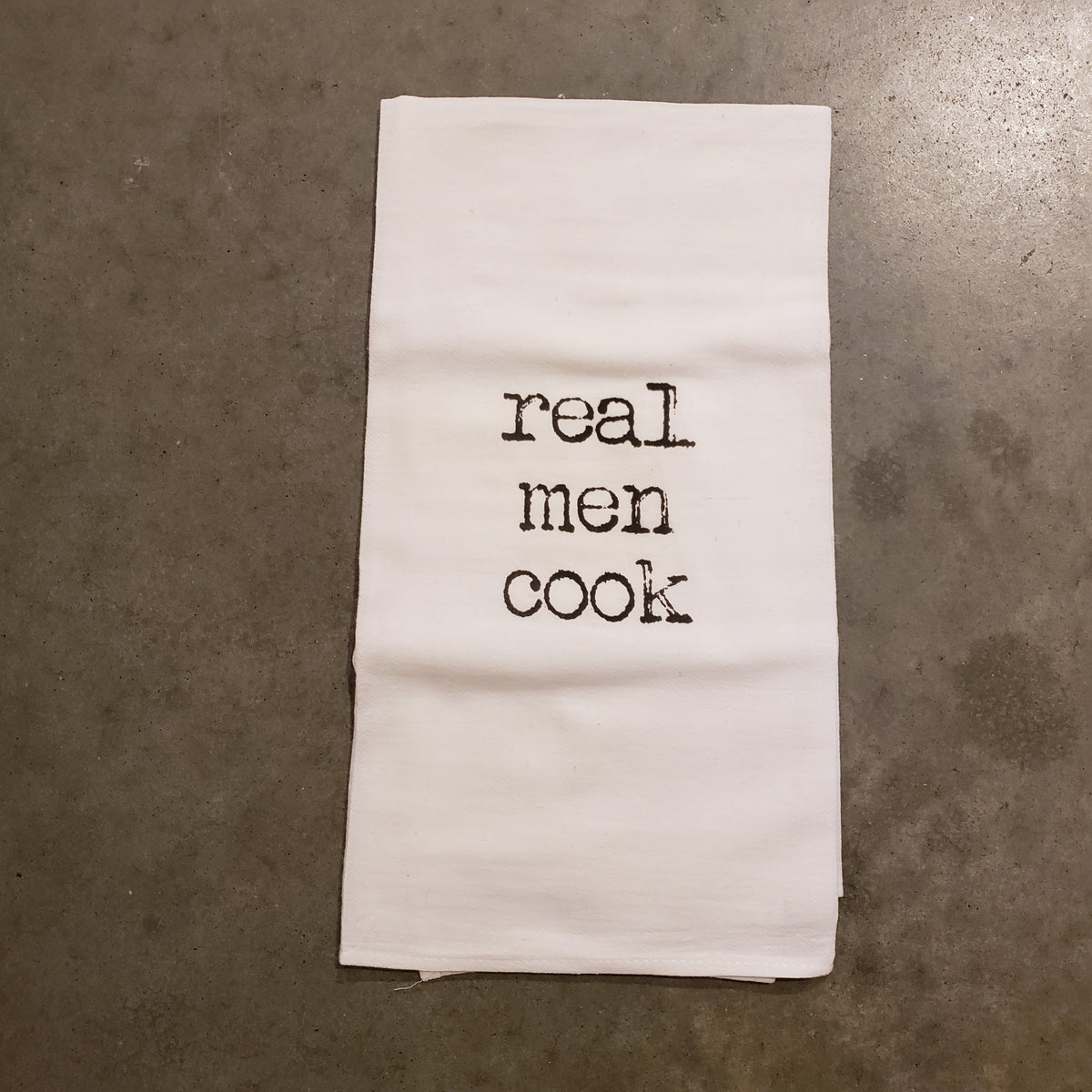 Real Men Cook Tea Towel