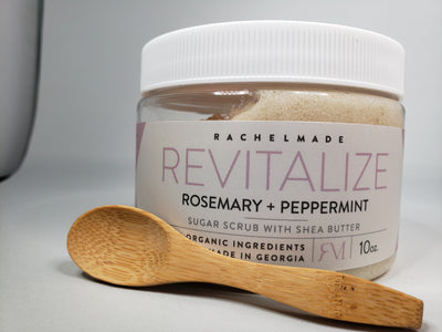 REVITALIZE Rosemary Peppermint Sumptuous Sugar Scrub with Shea Butter