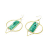 Elemental Earring - FLIGHT (Green Onyx)